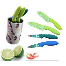 Набор ножей кухни ручки пластмассы 4PCS цветастый (SE-3557)