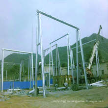 220kv Tubo de acero Arquitectura de la subestación de transmisión de energía