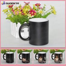 Горячая продажа матовая керамическая кружка кофе изменения сублимации кружка Китай завод