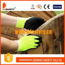 Fluorescencia amarilla de fibra acrílica Napping Line Guantes de trabajo DKL440