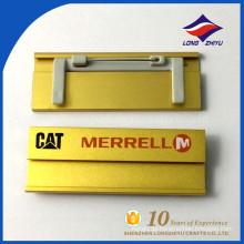Top-Grade-Gold-Farbname-Abzeichen Pin-Namensschild