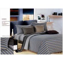 100% Juego de cama de algodón de color natural conjunto de sábanas de algodón 100%