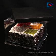 Роскошь подгоняла Размер черный художественная бумага коробка торта с ручкой