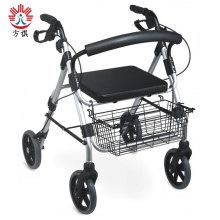 Aides à la marche pour personnes âgées avec siège et panier