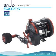 Angler Selecione Mercury Plastic Body / 3 + 1 Bb / EVA Direito Pesca Sea Fishing Trolling Pesca Reel (Mercury 020)