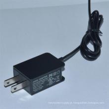 Carregador 5V0.5A do adaptador da alimentação de DC da CA, 5V0.8A, 5V1a, 5V1.2A, 6V0.5A, 6V1a, 12V0.5A, 15V400mA