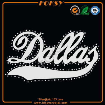 Dallas sequin iron on transfer