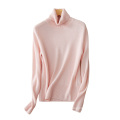 Women's sweater 100% cashmere knitted turtleneck slim fitting soft warm pullovers for winter/autumn