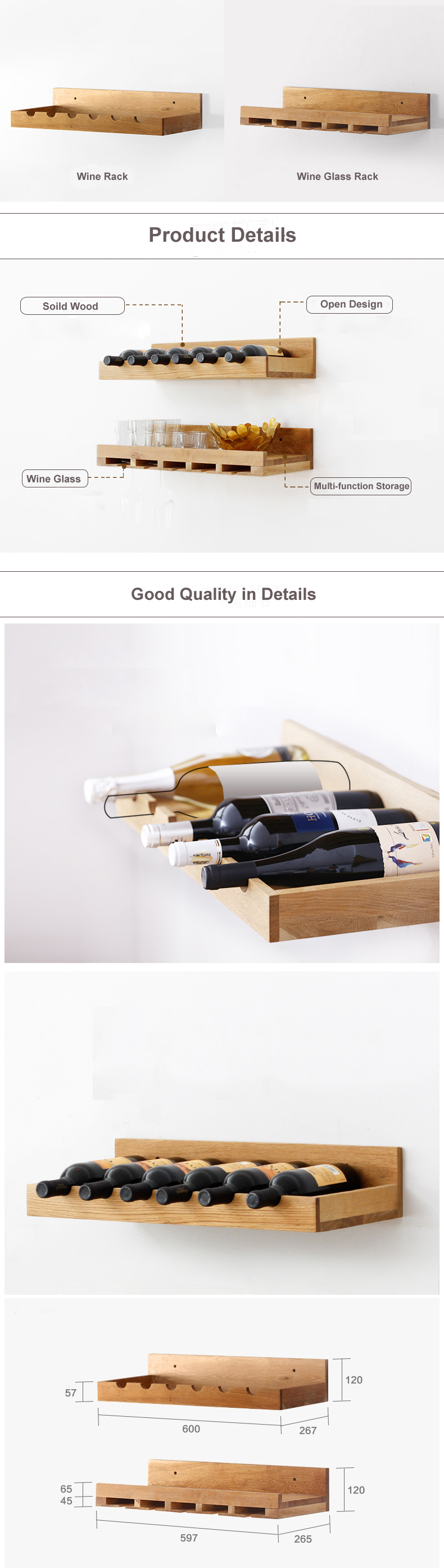 Wine Rack Display Shelf