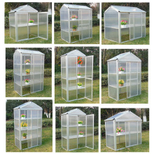China New Product for Glass Venlo Greenhouse PC Board Aluminum Frame Outdoor Garden Greenhouse supply to Libya Exporter