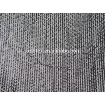 polyester stripe brodé thermique tissu matelassé avec piquage pour veste