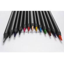 Crayon de couleur bois noir