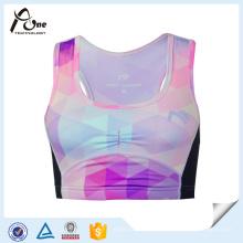 Sublimación Impresión Venta al por mayor Spandex Señoras Yoga Bra Sports Bra