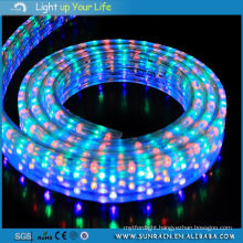 LED Rope Light 4 Wires Flat Muticolor Be Controlled Garden Light