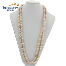 8mm Potato Grade B Natural Pink Freshwater Pearl Necklace
