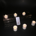 Set 6 Luminara isi ulang Flameless bergerak Wick Tealight lilin