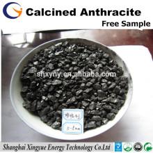 C 92% Recarbonizador de carvão antracite calcinado / aditivo de carbono para usinas siderúrgicas