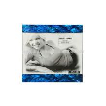 Marco azul de la foto del mdf de la cáscara del paua de la venta caliente