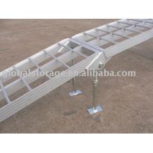 Rampa de deshabilitación de aluminio de servicio mediano