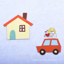 2016 création personnalisée bonne qualité papier auto bon marché papier aimants et aimants réfrigérateur réfrigérateur pour enfants