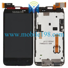 for HTC Desire Vc T328d LCD Screen and Digitizer Touch with Frame