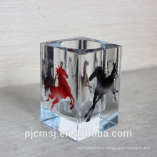 2015 кристалл канцелярские. кристалл ручка с цвет лошадь