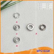Prong Snap botão com tampa de metal, de alta qualidade para vestuário