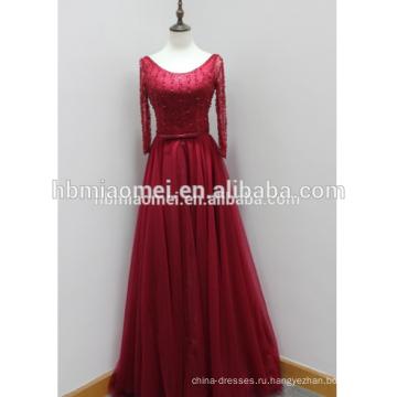 Леди коктейльный платья глубокий с длинным рукавом макси новый дизайн вечернее платье