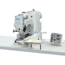 Máquina de coser electrónica con botón de vástago