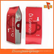 Food Grade Heißsiegel Custom Seite Zwickel Kunststoff gefüttert Kraftpapier Tasche für Kaffeebohnen Verpackung