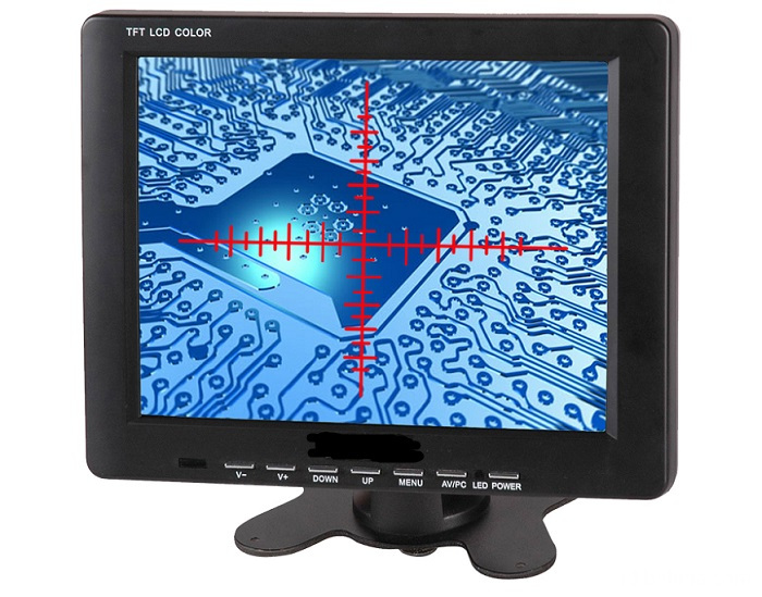 8 inch single cross scale line monitor