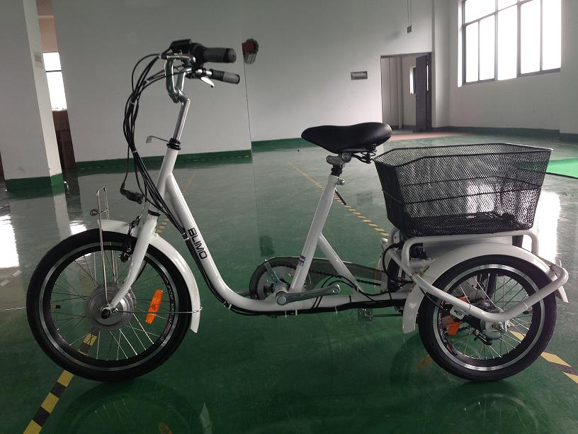 Adult Electric Tricycle With Basket