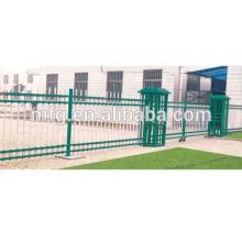 backyard fence/galvanized steel fence posts/cast iron fence plastic spray