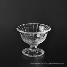 150мл оптом декоративная стеклянная чаша с крышкой