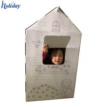 Maison de jeu de chien de chat de carton faite sur commande de prix bon marché de haute qualité, maison de papier de chat, maison de jouet de papier de carton