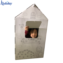 High Quality Cheap Price Custom Cardboard Cat Dog Play House,Cat Paper House,Cardboard Paper Toy House