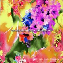 Для Леди Платье Красный Цветок Весна и Лето Китайский Шелковый Ткань