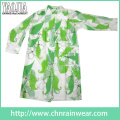 Yj-6201 Printed EVA Raincoat Transparent Ladies Clear Raincoats for Cycling