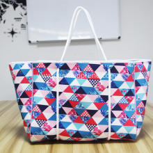 Promotional Multicolor neoprene tote bag beach bag