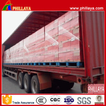 Einfaches Laden Tri-Axle Curtain Side Semi Trailer