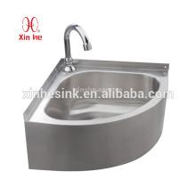 Aço inoxidável Outdoor Pedestal ou wallmount lavatório