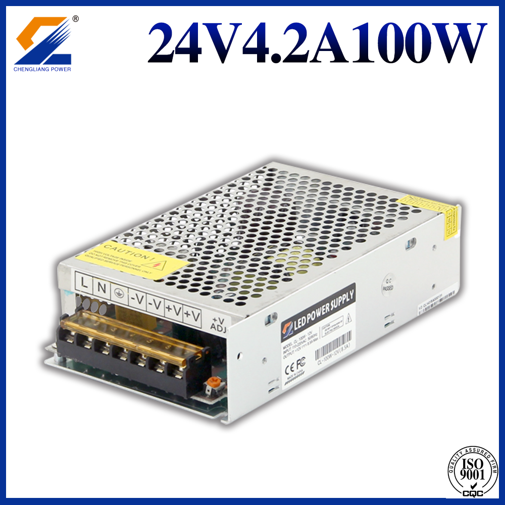 24V 4.2A 100W Transforer untuk Strip LED