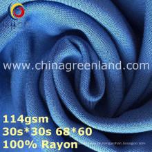 Tela de tingidura 100% lisa Rayon tecida para o vestuário de matéria têxtil (GLLML369)