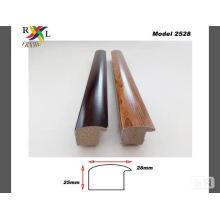 Moldura de marco de imagen PS de textura de madera