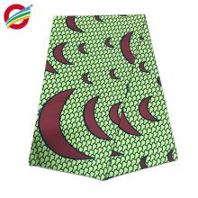 tela africana de la impresión de la cera del algodón 100% al por mayor para el vestido