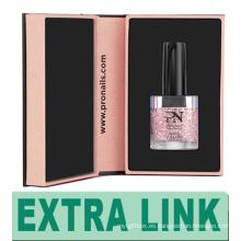 Nuevos productos de lujo Cartón Su logotipo Laca de uñas Latas de gel Caja de empaquetado de regalo