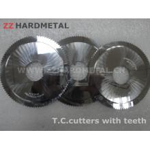 Cortadores de carboneto de tungstênio com dentes