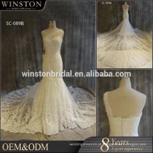 Vestido de noiva de cristal de cristal de alta qualidade de alta qualidade