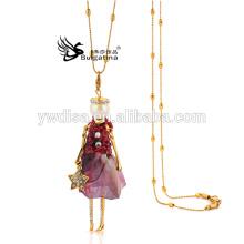 Ожерелье куклы способа, ожерелье кукол женщин, кулон ожерелье кулон 2015 новый дизайн для Рождества