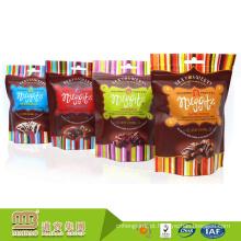 O projeto feito sob encomenda do logotipo mini plástico levanta-se sacos doces Ziplock do empacotamento de alimento dos doces / chocolate com furo do cair